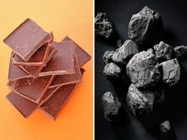 Does dark chocolate remind you of coal?
