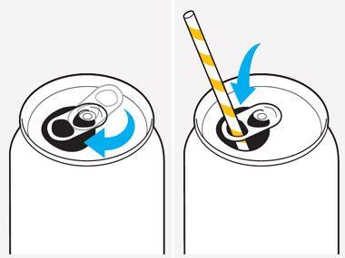 Drink Soda with a Straw