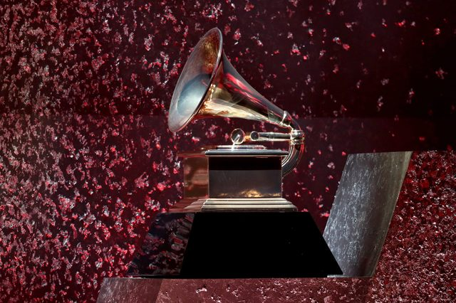 A GRAMMY statue is displayed during Motown 60: A GRAMMY Celebration at Microsoft Theater on February 12, 2019 in Los Angeles, California.