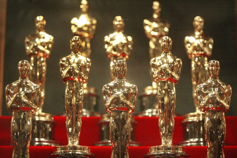 Oscar statuettes are displayed during an unveiling of the 50 Oscar statuettes to be awarded at the 76th Academy Awards ceremony January 23, 2004 at the Museum of Science and Industry in Chicago, Illinois.