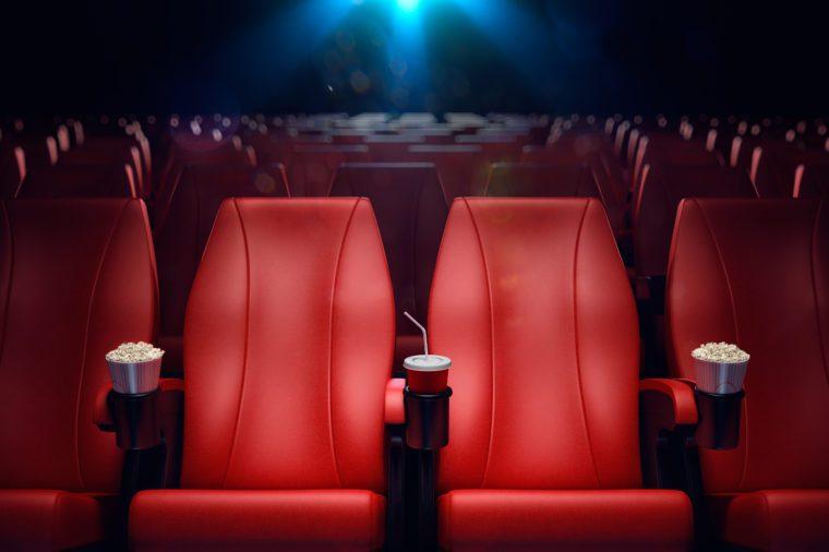 empty movie theater front row