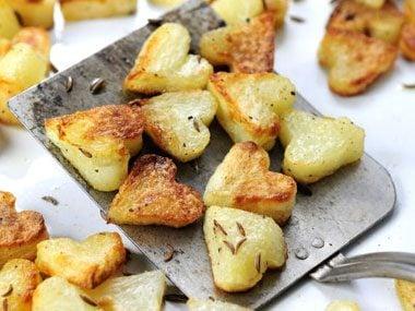 Roasted Potato Hearts