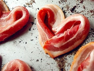Image result for heart shaped bacon