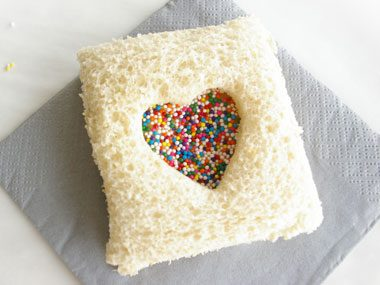 Heart Fairy Bread