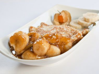 Caramelized Bananas Pancakes