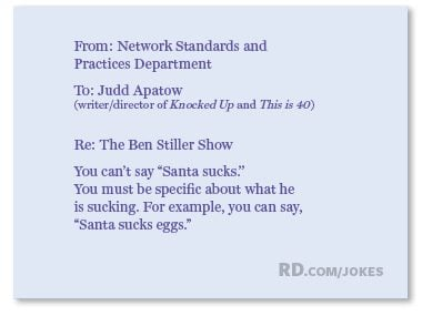 What did the department of Standards and Practices say to the team behind <i>The Ben Stiller Show</i>?