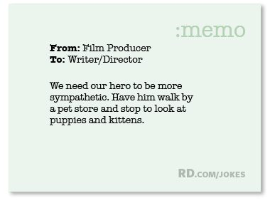 What did the film producer say to the writer/director?