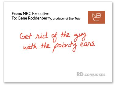 What did the NBC executive say to the producer of <i>Star Trek</i>?