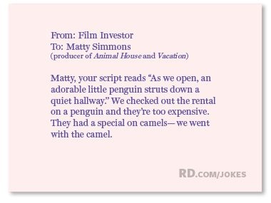 What did the film investor say to the producer of <i>Animal House</i>?