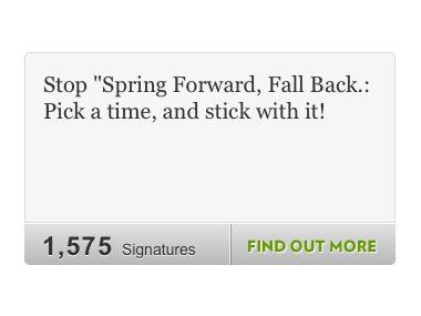 Spring Ahead, Blah Blah!