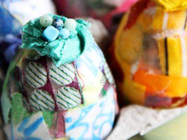 Fabric Scrap Fabergé Egg