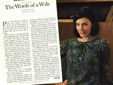 Megan Draper in:<br>The Worth of a Wife