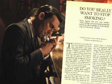 Don Draper in:<br>Do You Really Want to Stop Smoking?