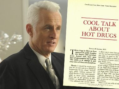 Roger Sterling in:<br>Cool Talk About Hot Drugs