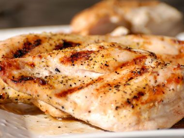 Food myth: To minimize fat and calories, always remove the skin before cooking chicken.