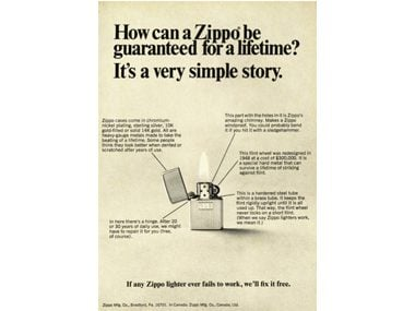 Brought to you by: Zippo