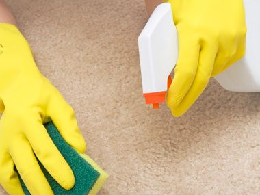 27. Clean carpet stains