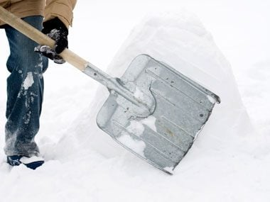 keep shovel or chute snow-free