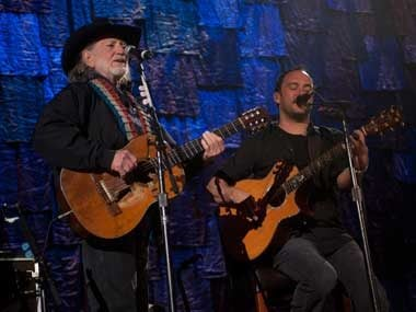 Willie Nelson and Dave Matthews