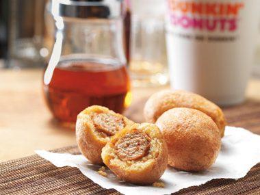 January 2012: Dunkin Donuts' Sausage & Pancake Bites.