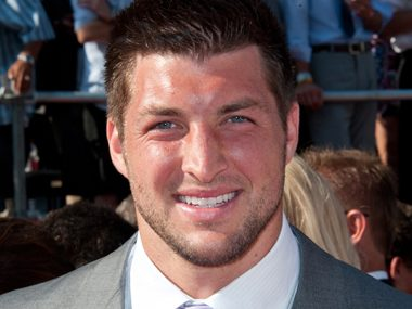 40. Tim Tebow, NFL quarterback