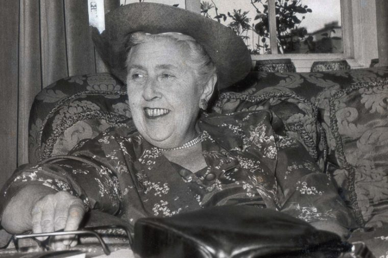 Dame Agatha Christie Pictured At Her London Home In Chelsea.