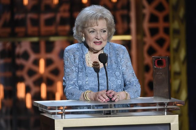 Betty White accepts the legend award at the TV Land Awards at the Saban Theatre, in Beverly Hills, Calif