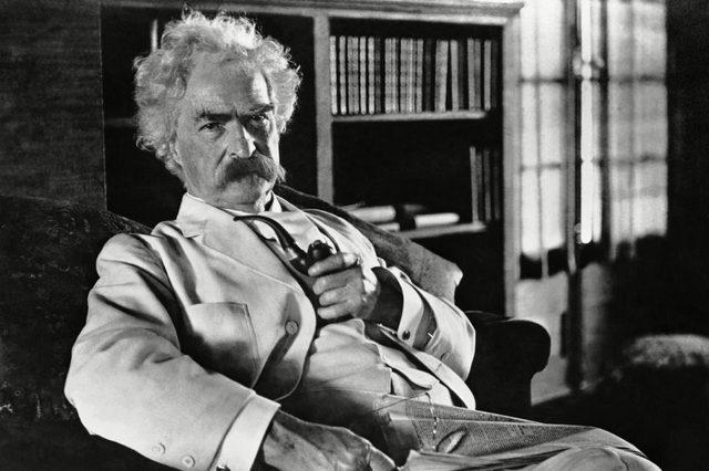 Novelist Mark Twain