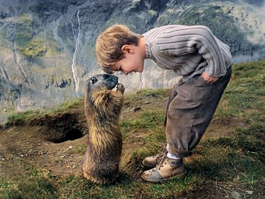 Marmots Befriend a Boy