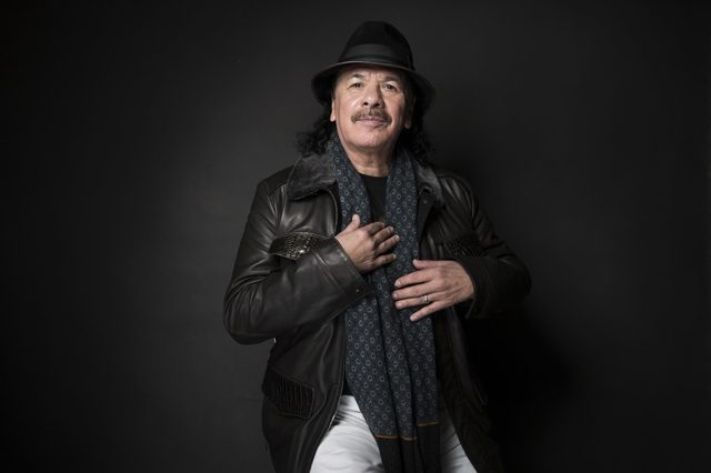 "Executive producer Carlos Santana poses for a portrait to promote the film, ""Dolores"", at the Music Lodge during the Sundance Film Festival, in Park City, Utah"