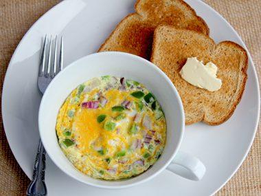 Omelette in a mug