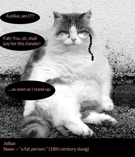 Fat cat with a monocle is angry you called him a jollux