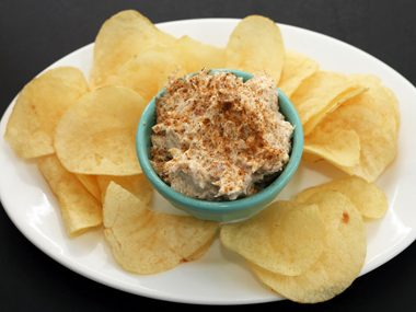 """Skinny"" summer crab dip appetizer"