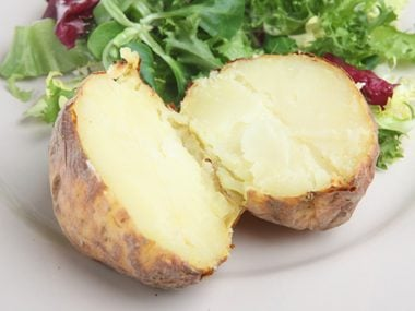 Microwave potatoes faster