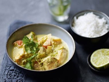 Coconut, Chicken, and Butternut Squash Curry