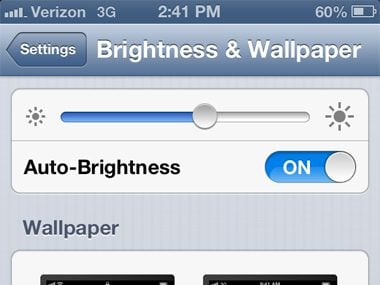 Lower the brightness
