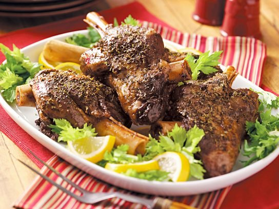 Slow Cooker Burgundy Lamb Shanks Recipe