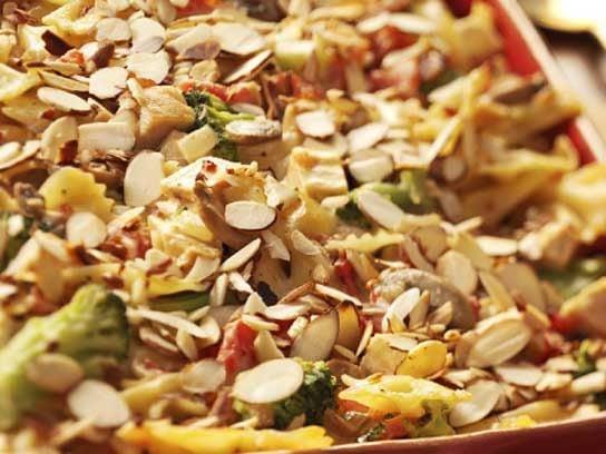 Almond Chicken Pasta Bake Recipe