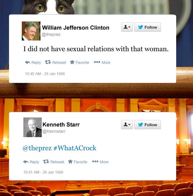 Bill Clinton funny tweets sexual relations