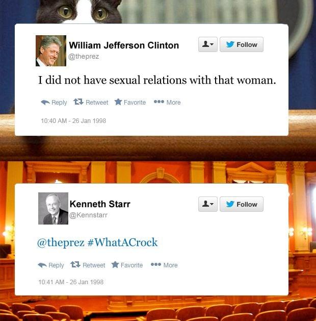 Bill Clinton funny tweets sexual relations