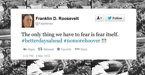 FDR funny tweets fear itself