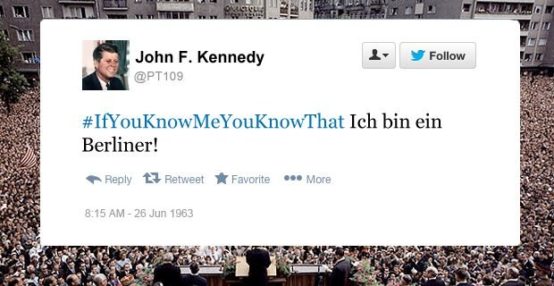JFK funny tweets ich bin ein Berliner