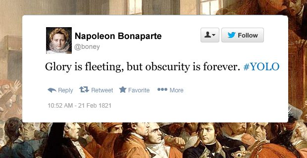 Napoleon funny tweets obscurity