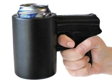 This Pistol-Shaped Can Koozie