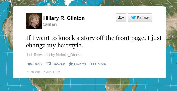 hillary clinton funny tweets change my hairstyle