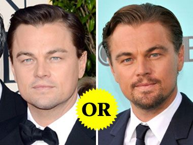 Leonardo DiCaprio with or without a beard