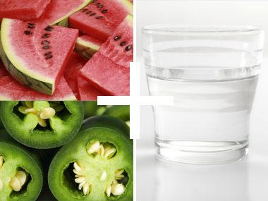 Watermelon and jalapeño water