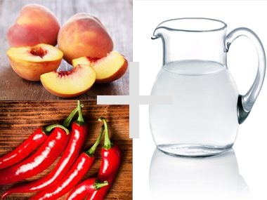 Peach and Cayenne Pepper water