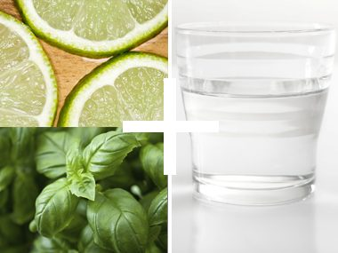 Lime and basil water