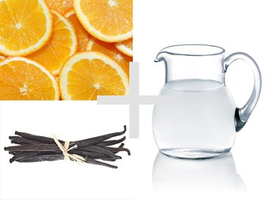Orange and Vanilla bean water